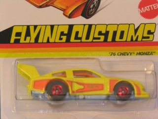 Hot Wheels 2013 Flying Customs 76 Chevy Monza Yellow from Case A
