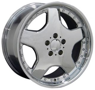 18 Chrome AMG Wheels Set of 4 Rims Fit Mercedes C E s Class SLK CLK
