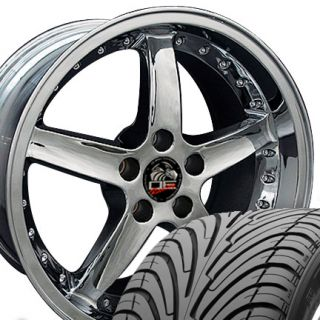 10 Chrome Cobra Wheels Nexen Tires Rims Fit Mustang® 94 04