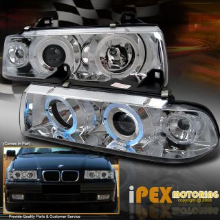 Euro Style 92 98 BMW E36 4DR 3 Series Angel Eye Halo Projector Head