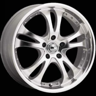 16x7 Diamond Cut Wheels Rims Casino 5x4 5