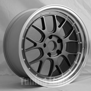 Description One Set of Four 19 Staggered Lemans R Style Wheels