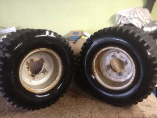 86 HONDA 200X ATC 200 X ~ PAIR ITP REAR WHEELS RIMS TIRES ~ SEE