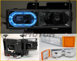 94 98 Chevy C K C10 Full Size Tahoe Suburban Halo Headlights LED