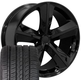 20 Challenger SRT Black Wheels Set of 4 Rims Tires Fit Dodge