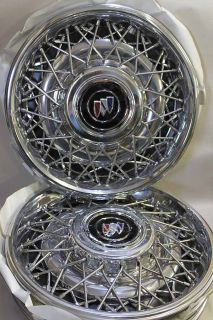 Buick Roadmaster 91 92 Chrome Wire Rims Center Cap Set4