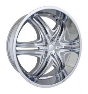24x9 Et 15 Chrome DZ 103 Wheels Rims 5 or 6 Lug Rear Wheel Drive Cars