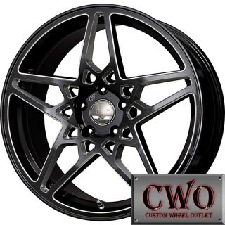 20 Black Falken RT Nova Wheels Rims 5x112 5 Lug Mercedes Audi A4
