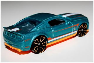 Hot Wheels Teal 2010 Ford Shelby GT 500 Super Snake Faster Than Ever 5