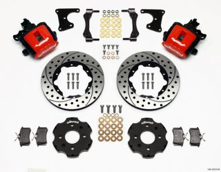 Wilwood Disc Brake Kit Honda Civic 8695 10210 11 Drilled Rotors Red