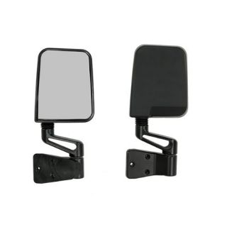 Smittybilt 7694 Jeep 87 06 Wrangler Half Door Side Mirrors Black Pair