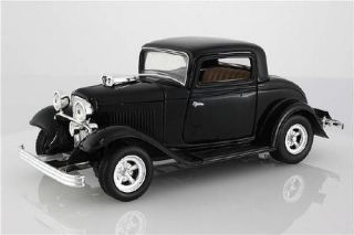 1932 Ford Coupe Motormax Diecast 1 24 Scale Black