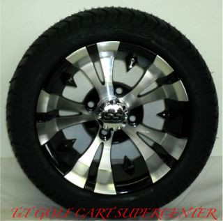 Golf Cart 10 Vampire Wheels and 205x50x10 Tires