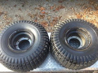 ATC Honda 200M 200E 200ES Pair Rear Rims Wheels Tires Carlisle 25 x 12