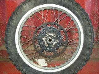TT500 TT 500 74 79 YZ250 YZ 250 Rear Wheel Rim and Brake Hub 2