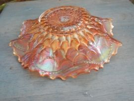 Vintage 1911 1912 Dugan Carnival Glass 7 Bowl Fish Scale and Beads