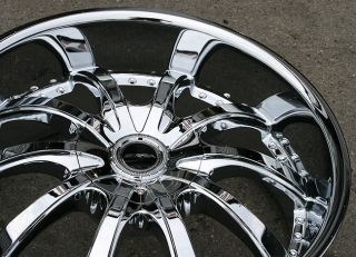 Strada Sole 22 Chrome Rims Wheels Audi Q7