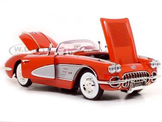 1958 Chevrolet Corvette 1 18 Scale Diecast Model Red