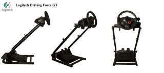 GT Omega Steering Wheel Stand Logitech Driving Force GT PS3 GT5 Racing