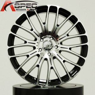 19 PRESTIGE VORTEX BLACK MACHINED FACE 5X112 +35 WHEEL FIT AUDI A4 A5