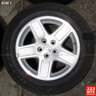 17 USED RIMS & TIRES OEM DODGE CHARGER MAGNUM RIMS & GOODYEAR TIRE