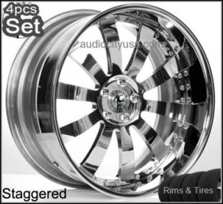 22inch AC Forged Wheels and Tires Pkg for BMW 3pc Forged Rims