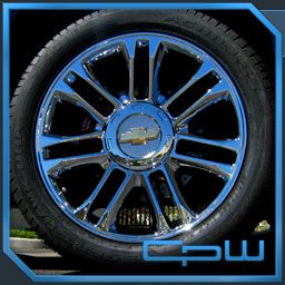 22 Chrome Wheels Rims Tahoe Silverado Tire Package New