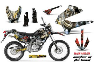 AMR Racing MX Deco Sticker Kit D Tracker Kawasaki KLX 250 08 12 Iron