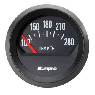 Sunpro Analog Styleline Electrical Water Oil Temperature Gauge 2 Dia