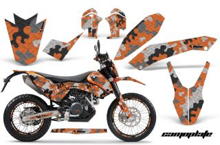 AMR KTM Graphic Kit Sticker Dekor 690 SM Enduro Number Plate