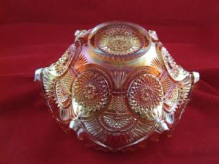 Imperial Twins Pattern Carnival Glass Punch Fruit Bowl Circa 1910