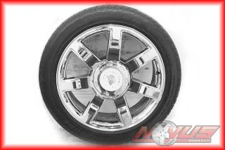 Escalade Chevy Tahoe GMC Yukon Denali Chrome Wheels Tires 20 24