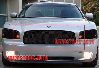 Stainless Black Mesh Grille Upper 2005 2010 Dodge Charger