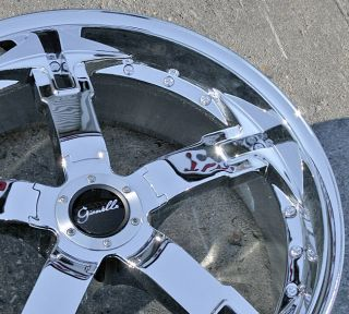 GIANELLE QATAR 20 x 8.5 CHROME RIMS WHEELS   2 Wheels Only NO FULL SET