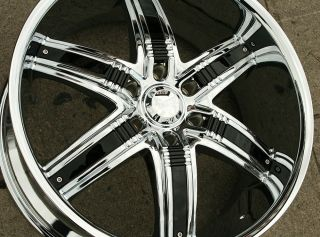 Viscera 777 22 Chrome Rims Wheels Hummer H3 06 10 22 x 9 5 6H 15