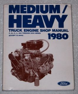 1980 Ford Medium Heavy Duty Truck F600 F700 LT9000 B600 Shop Service