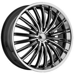 Panther 915 Black Wheels Rims 5x120 +35 / BMW X3 Lexus LS 460 Equinox