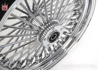 18 18 Wheels Fat Mammoth 48 Spokes Chrome for Harley Fatboy Softail