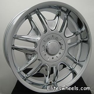 22 inch Chrome 6x135 Ford F150 Rims Wheels Lincoln Mark Lt Navigator