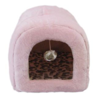 Cat Beds Enclosed Whisker City™ Plush Hut Hooded Cat Bed
