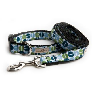 Lola & Foxy Nylon Dog Collars   Teal Dots