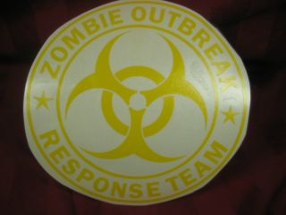 ZOMBIE Attack Outbreak Response team Vinyl waterproof decal sticker