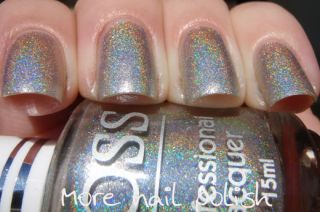JOSS★ Flash Diamond Holographic Holo 3D FX Nail Polish Silver