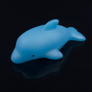 LED Flashing Dolphin Light Bulb Colorful Decor Lamp Bath Toy For Baby
