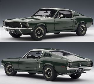 72812 1 18 SCALE 1968 FORD MUSTANG GT 390 GREEN DIECAST MODEL CAR