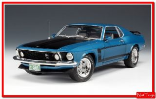HIGHWAY 61 HGW50729 FORD MUSTANG BOSS 1969 BLUE 118 DIE CAST MODEL