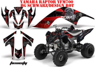AMR DEKOR KIT YAMAHA RAPTOR YFM TOXICITY DECALS DECOR B