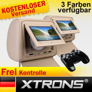 HD702 2x7 Kopfstütze DVD Player Auto LCD Monitor USB/SD car headrest