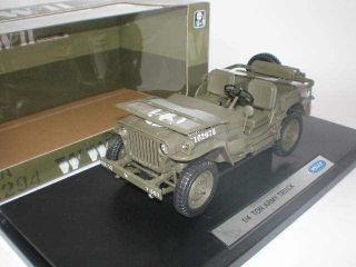 18 Welly Jeep 1/4 TON ARMY Truck Military #18036W