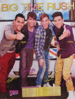 BIG TIME RUSH   XL Poster USA   Sammlung Clippings James Maslow